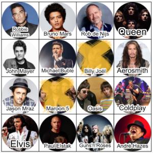 Bingokaart, vriendenuitje, online bingo muziek live